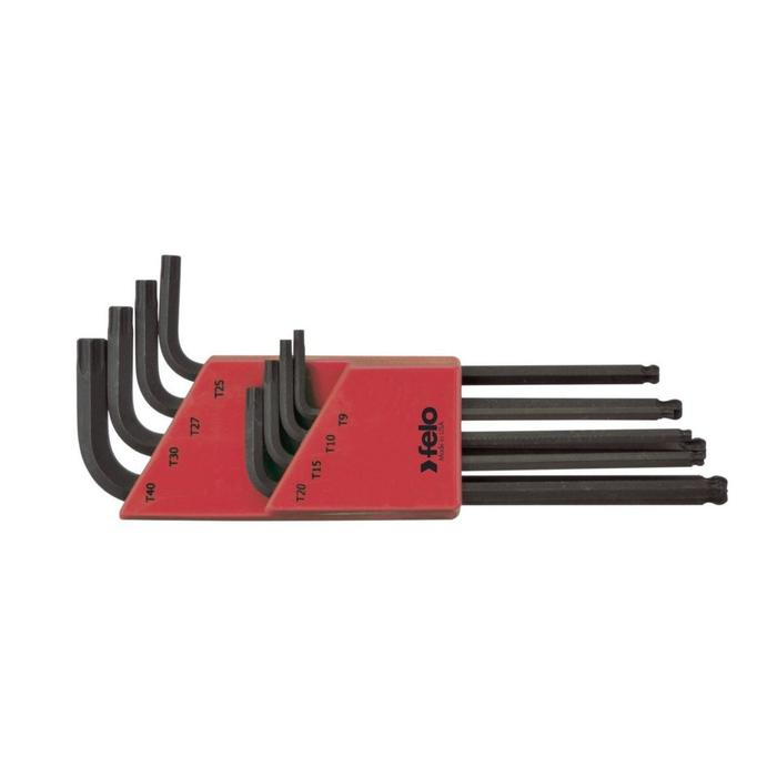 Набор шестигранных ключей Felo 34808001, TORX 9-40, с шаровым окончанием, 8 шт.