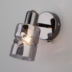 Светильник Ansa, 1x40Вт E14, цвет чёрный жемчуг