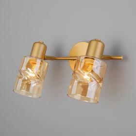Светильник Ansa, 2x40Вт E14, цвет золото