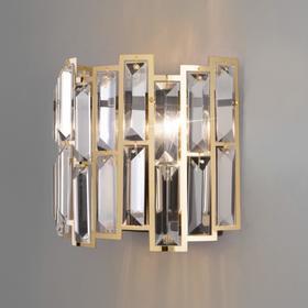 Бра Zolletta, 2x60Вт E14, цвет золото, чёрный