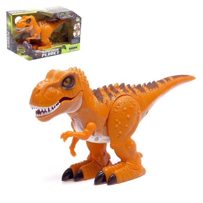 Динозавр «Тираннозавр», световые и звуковые эффекты, работает от батареек