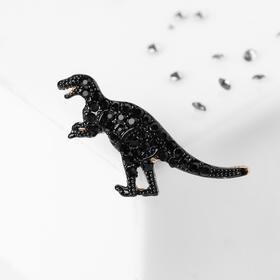 Значок 'Динозавр', цвет чёрный в золоте Ош