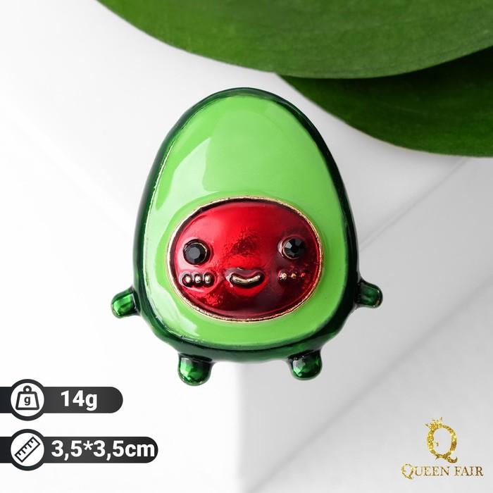 """Брошь """"Авокадо"""", цвет красно-зелёный в золоте"""