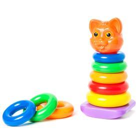 Пирамидка-качалка «Кошка», 8 элементов