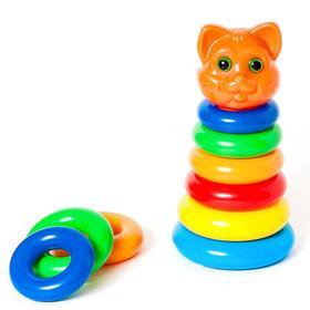 Пирамидка «Кошка», 8 элементов