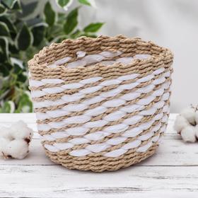 Корзина для хранения плетёная Доляна «Элли», 14×14×12 см