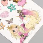 """Татуировка на тело цветная """"Принцессы и зверята"""" 12х7,5 см - Фото 2"""