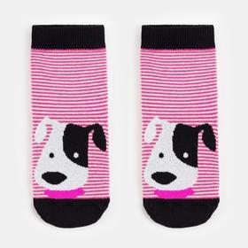 Носки детские махровые, цвет розовый, размер 12