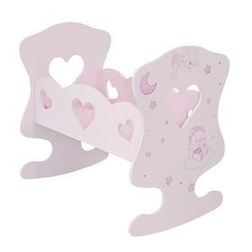 Кроватка-люлька серии «Лаки», цвет Розовый Мини