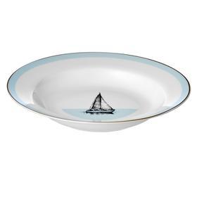 Тарелка суповая, 23 см, костяной фарфор