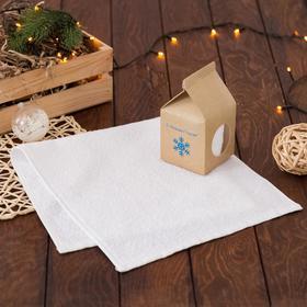 Полотенце подарочное «С Новым Годом!», 30х60 см, цвет молочный