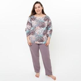 Костюм (лонгслив, брюки) женский «Оазис» цвет светло-коричневый, размер 42