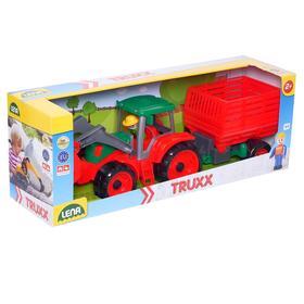 Трактор с прицепом для сена, 34 см, МИКС