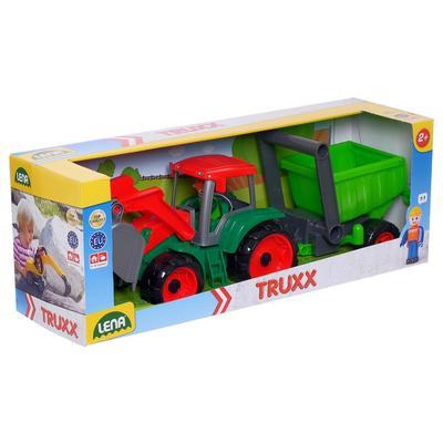 Трактор с прицепом. 34 см, МИКС - Фото 1