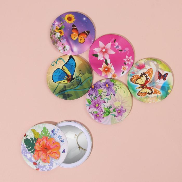 Зеркало «Цветы и бабочки», МИКС