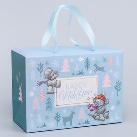 """Пакет-коробка """"Happy New Year"""", Me To You, 20 x 28 x 13 см"""