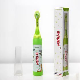 Зубная щетка B-RUSH KIDS B1-K103ES, для детей, автоподача пасты, 40 г пасты, зеленая Ош
