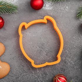 Форма для пряников «Пухлый бык», цвет оранжевый