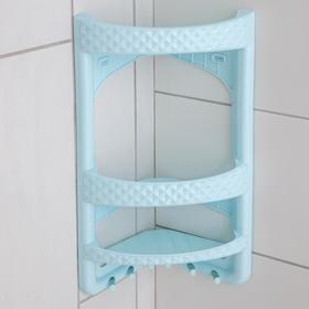 Полка угловая для ванной комнаты, цвет МИКС Ош