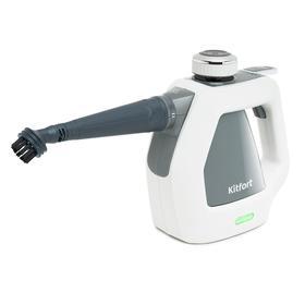 Пароочиститель Kitfort КТ-918-2, 1000 Вт, 200 мл, нагрев 2–3 мин, бело-серый Ош