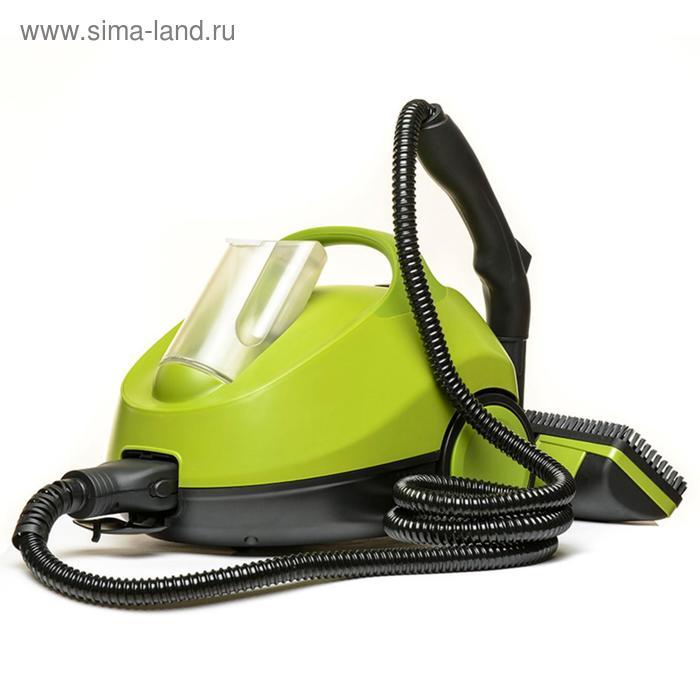Пароочиститель Kitfort КТ-912, 2000 Вт, 1.5 л, нагрев 2–3 мин, чёрно-зелёный