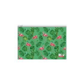 "Папка-конверт на гибкой молнии ErichKrause ""Tropical Flamingo"" В5 микс 48661"
