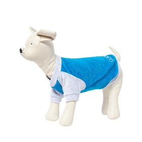Толстовка Osso для собак, велюр, размер 28 (ДС 28, ОГ 36-38 см), бирюзовая Ош