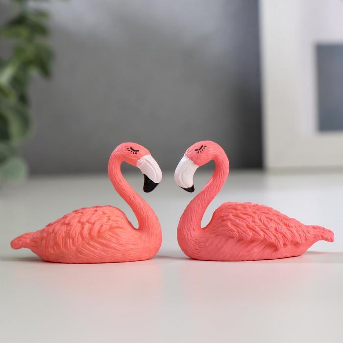Сувенир пластик Розовый фламинго МИКС 3,7х4,7х2,1 см