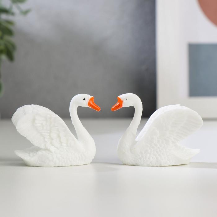 Сувенир пластик Белый лебедь МИКС 3,7х4,5х3,5 см