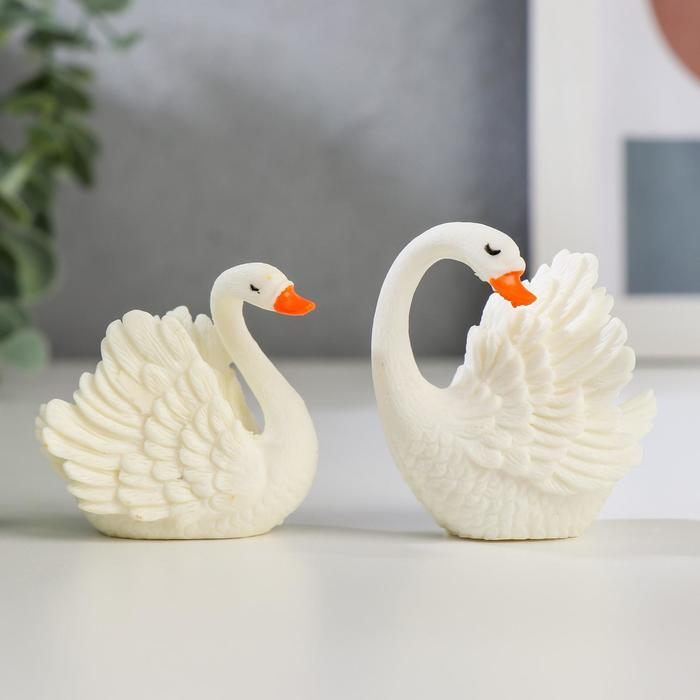 Сувенир пластик Белая лебедь МИКС 4,7х4х2,5 см