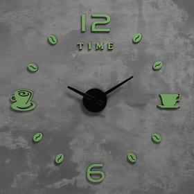 Часы-наклейка светящиеся, стрелки 22,5см, 16.5 см, 1АА, плавный ход Ош