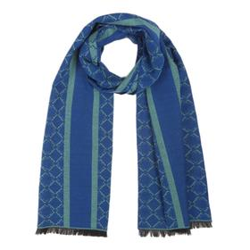 Шарф женский шерстяной D469_K3-4 цвет синий, р-р 33*180