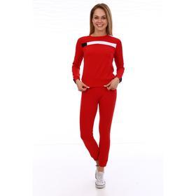 Костюм женский (джемпер, брюки) цвет красный, размер 48
