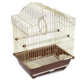 Клетка Triol для птиц, 30 х 23 х 39 см, золото Ош