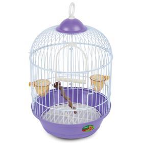 Клетка Triol для птиц круглая, эмаль, 23 х 37,5 см, микс цветов Ош