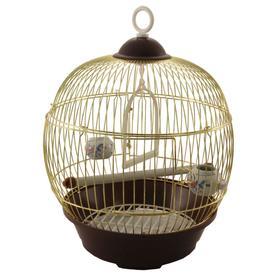Клетка Triol для птиц круглая, 23 х 36,5 см, золото Ош