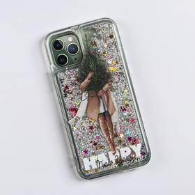 Чехол - шейкер для телефона iPhone 11 pro «Елочка», 7,14 х 14,4 см