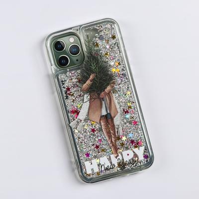 Чехол - шейкер для телефона iPhone 11 pro «Елочка», 7,14 х 14,4 см - Фото 1