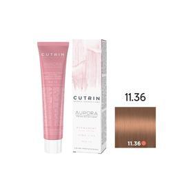 Крем-краска для окрашивания волос Cutrin Aurora Permanent High Lift, тон 11.36 чистый песочный блондин, 60 мл
