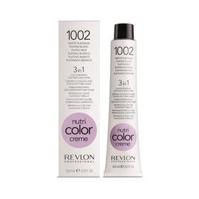 Крем-маска для тонирования волос Revlon Professional Nutri Color, тон 1002 белый платиновый, 100 мл