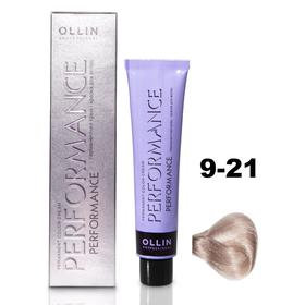 Крем-краска для окрашивания волос Ollin Professional Performance, тон 9/21 блондин фиолетово-пепельный, 60 мл