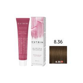 Крем-краска для окрашивания волос Cutrin Aurora Permanent, тон 8.36 светлый золотой песок, 60 мл