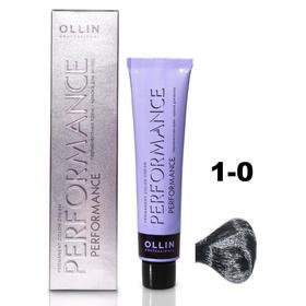 Крем-краска для окрашивания волос Ollin Professional Performance, тон 1/0 иссиня-черный, 60 мл