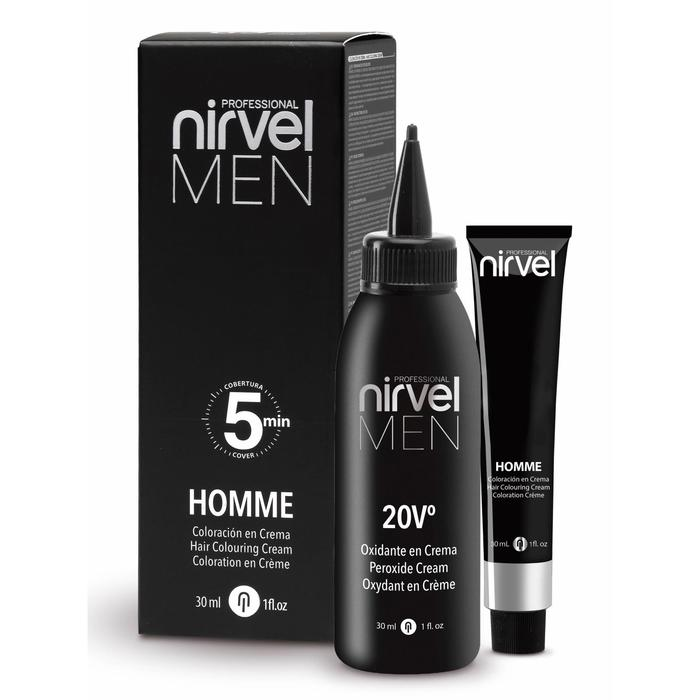 Комплект для окрашивания волос Nirvel Professional, тон G3 тёмно-серый homme, 2 шт. по 30 мл