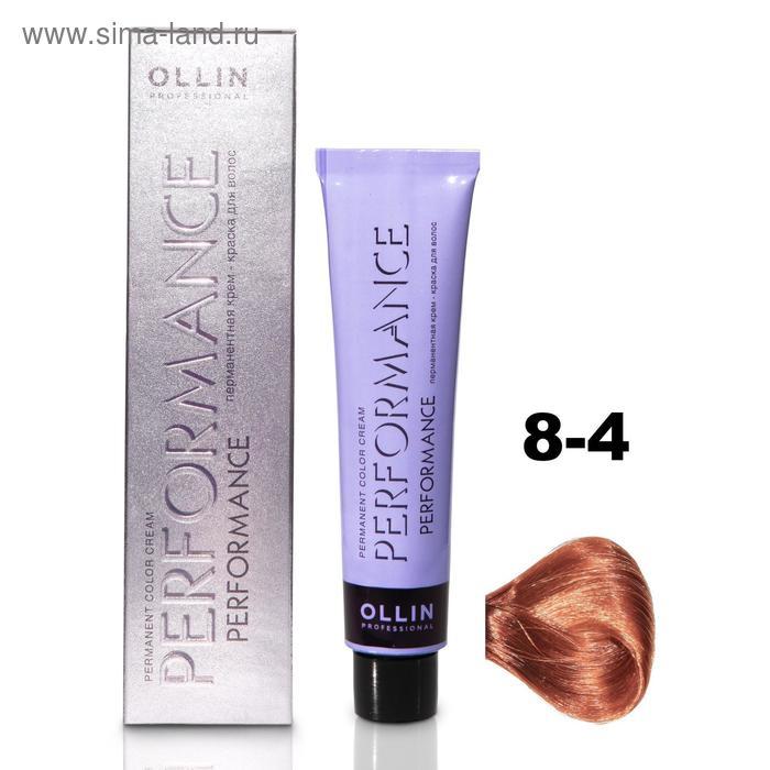 Крем-краска для окрашивания волос Ollin Professional Performance, тон 8/4 светло-русый медный, 60 мл