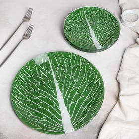 Набор тарелок «Лист», 7 предметов, в подарочной упаковке