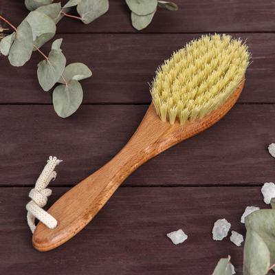 Щётка для сухого массажа, натуральный тампико, 79 пучков - Фото 1