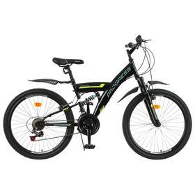 Велосипед 24' Progress модель Sierra FS RUS, цвет черный, размер 15' Ош