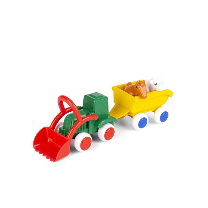 Набор «Сафари. Трактор с животными в прицепе», в коробке