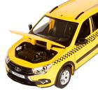 Машина метал «Lada Такси» 1:24, инерция, цвет жёлтый, открываются двери, капот и багажник, световые и звуковые эффекты - Фото 6